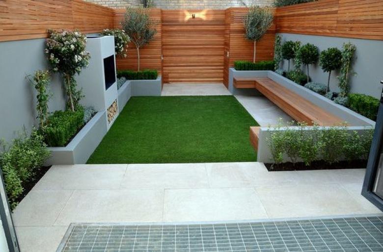 Drzewo rosnące pośrodku ławki i 5 innych fantastycznych pomysłów na mały ogród ()