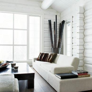 Inspiracja tygodnia: ściana z białego drewna lub paneli!
