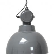 Szara industrialna lampa wisząca