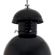 Loftowa czarna  lampa okrągła