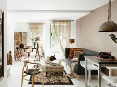 65 m2 lekkiego i przyjemnego klimatu w ciepłych wnętrzach w kolorach ziemi