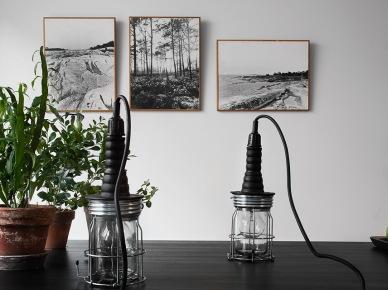Czarno-białe fotografie i industrialne lampy (19667)