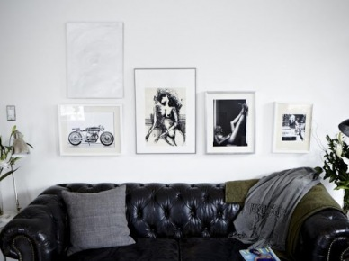 Mały,czarno-biały apartament. (7041)