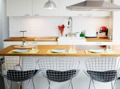 11 inspirujących pomysłów na krzesła barowe w kuchni – aranżacje wnętrz z wyspami kuchennymi | Lovingit (15601)