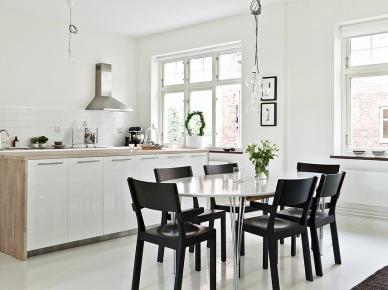 Otwarta kuchnia z jadalnią w stylu skandynawskim (18392)