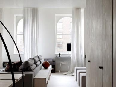 Czarno-biały, nowojorski apartament. (7846)