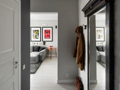 Pomysł na wąski i mały korytarz w mieszkaniu (19626)