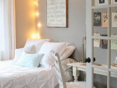 Girlanda świetlna w aranżacji sypialni (50070)