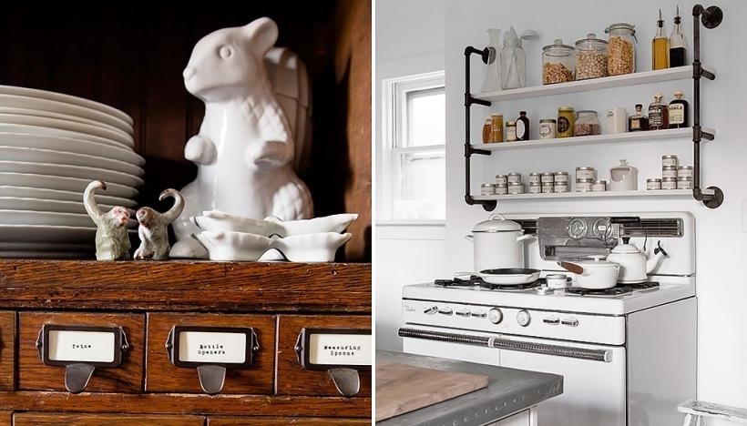 Biało-brązowa kuchnia