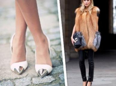 Hit czy kicz: szpilki, balerinki i inne buty z metalicznym lub kolorowym noskiem?