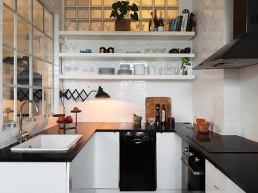 Jak urządzić małą kuchnię przy otwartym salonie z jadalnią ? (20719)