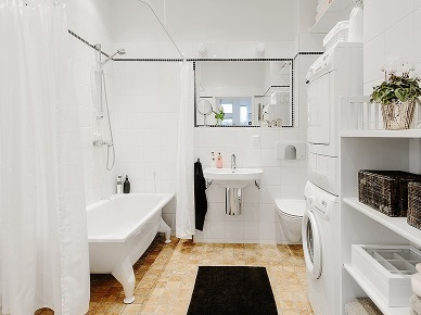 Pomysl na dobrze urzadzoną białą łazienkę (19750)