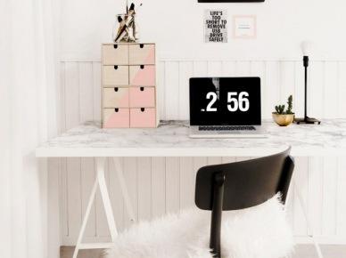 Eleganckie biurko w domowym gabinecie (50360)