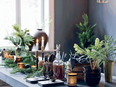 Jak udekorować świątecznie szary stół w szarej jadalni ? (47767)