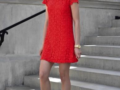 Kasia Tusk w czerwonej sukience (14584)