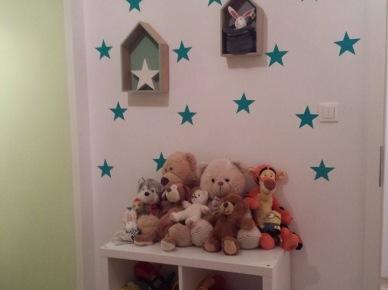 Dekoracje z motywem gwiazdek w pokoju dziecięcym (47809)