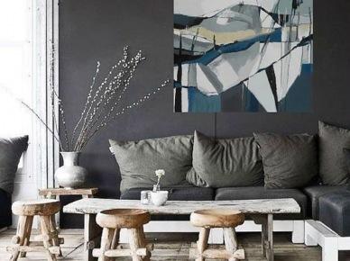 Abstrakcyjny obraz jako dekoracja salonu (50072)