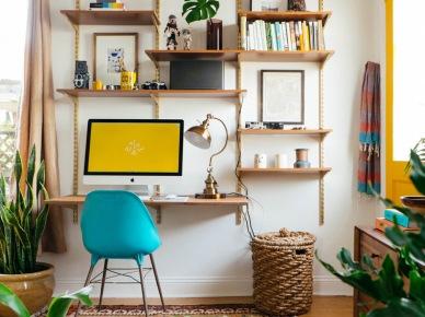 Oryginalny pokój biurowy w eklektycznym stylu (47728)