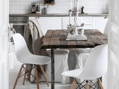 Efektowna lampa nad stołem w jadalni (50129)