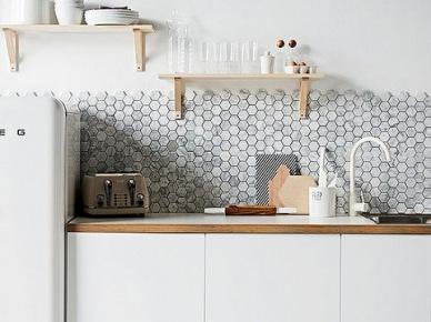 Minimalizm i scandy w aranżacji białej kuchni (26584)