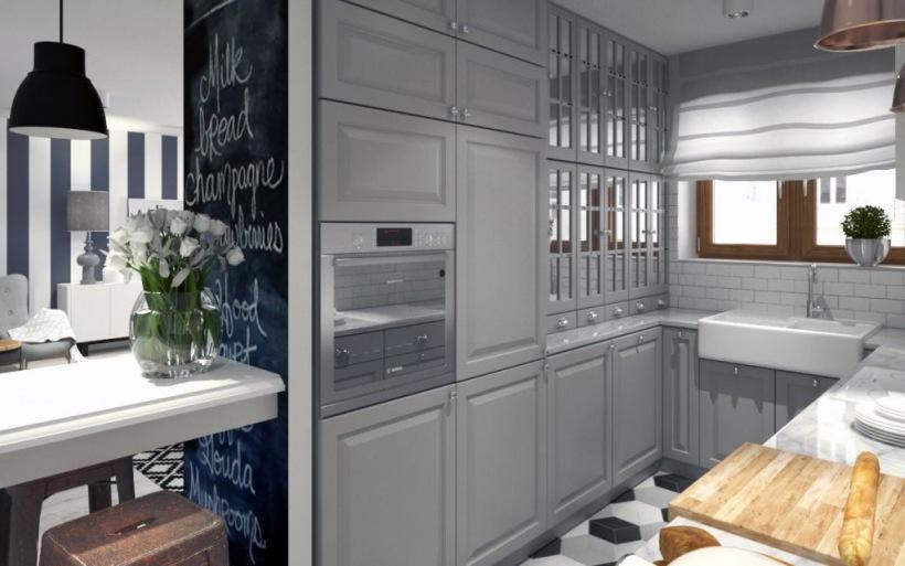 Kuchnia urządzone na szaro z IKEA  zdjęcie w serwisie Lovingit pl (47504)
