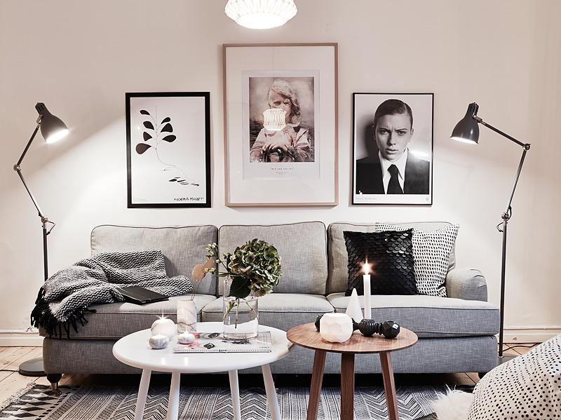 Jak wiesza grafiki nad sof w salonie aran acja zdj cie w serwisie 35768 - Foto deco lounge ...