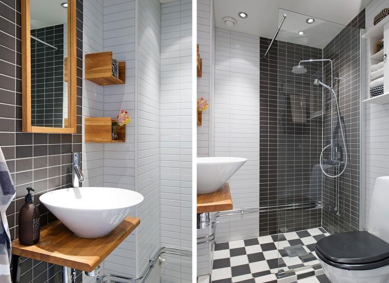 при дизайн ванны в скандинавском белье