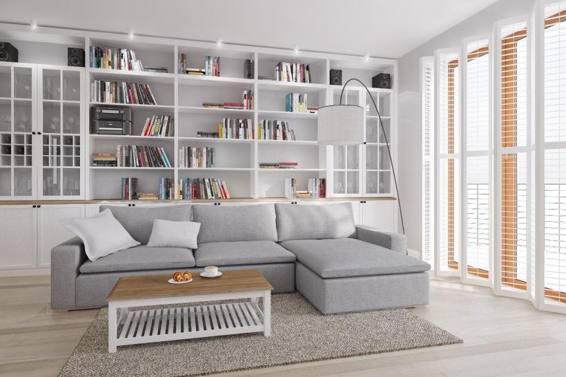 Domowa biblioteka w salonie zdj cie w serwisie lovingit for Biblioteczka w salonie