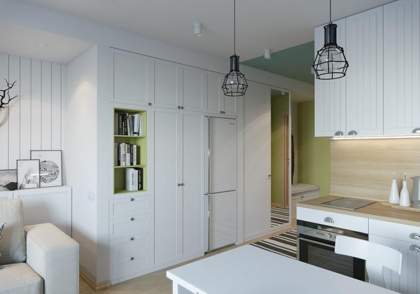 Jak po czy kuchni z garderob w ma y zdj cie w for 100 sq ft kitchen designs