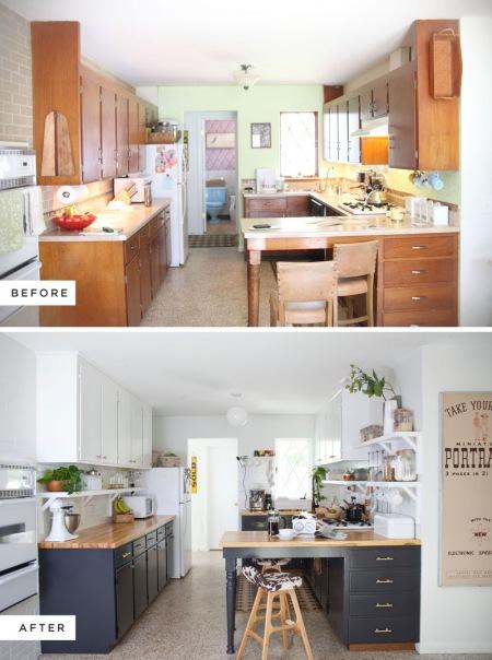 Kuchnia przed i po remoncie  zdjęcie w serwisie Lovingit   -> Kuchnia Po Remoncie Inspiracje