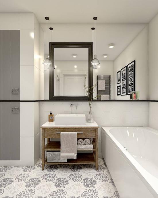 Aranżacja łazienki W Stylu Eklektycznym Z Zdjęcie W
