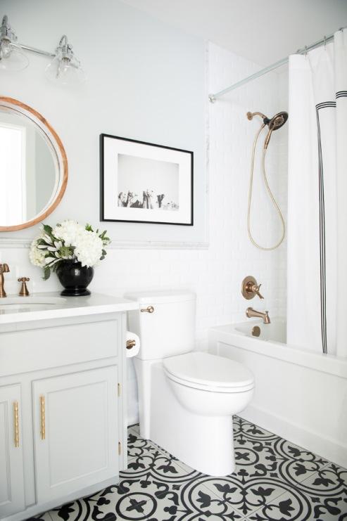 Pomysły Na Remont łazienki Ze Wzorzystą Podłogą Galeria