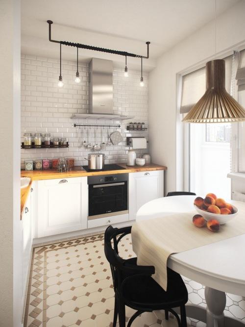Małe mieszkanie z osobną kuchnią oraz salonem i sypialnią w jednym pokoju