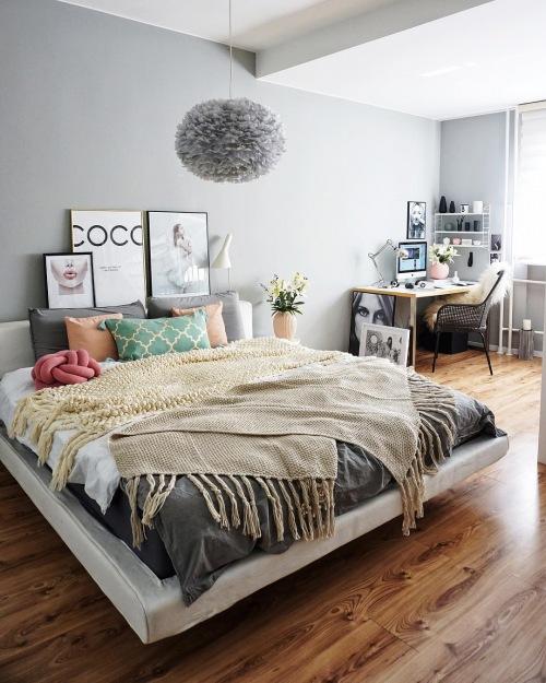 Wnętrza tygodnia z instagramu, czyli romantyczna aranżacja mieszkania w pastelowych kolorach