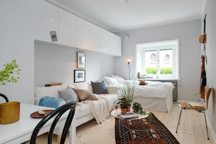 Jak Urządzić W Jednym Pokoju Salon Z Sypialnią Zdjęcie W