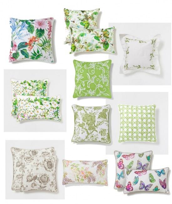 Poduszki Dekoracyjne W Kwiatykwiatowe Wzory Zdjęcie W
