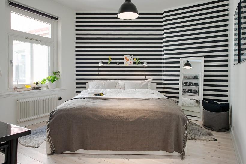 Tapeta W Czarno Biale Paskistojące Białe Zdjęcie W