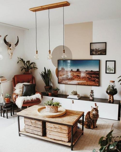 Ciepły eklektyczny dom, czyli wnętrza tygodnia z instagramu