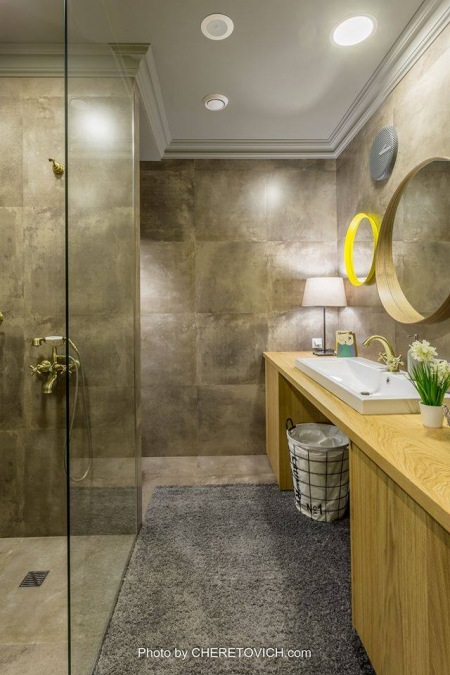 Aranżacja łazienki W Stylu Industrialnym Zdjęcie W
