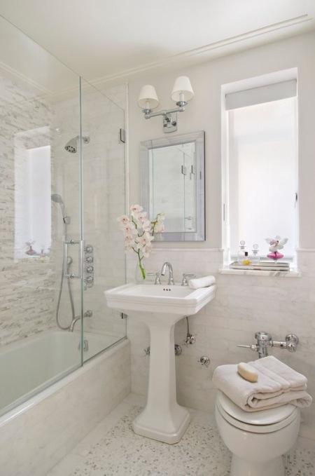Aranżacja Małej łazienki W Bieli Zdjęcie W Serwisie