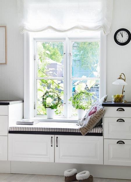 Siedzisko Pod Oknem W Kuchni Zdjęcie W Serwisie Lovingit