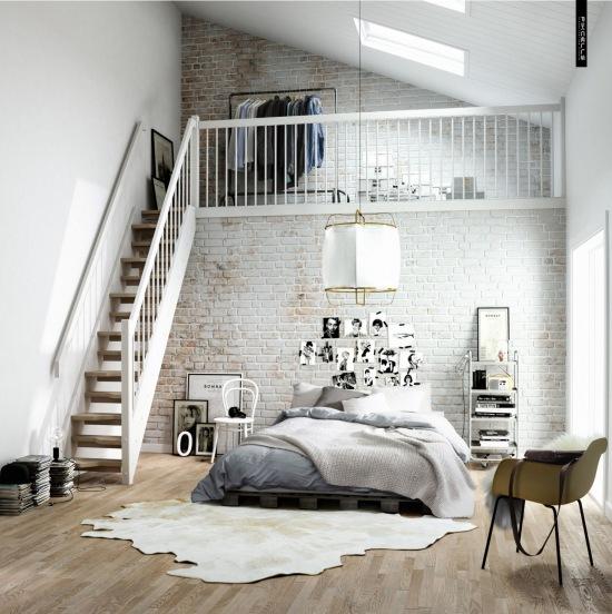 Groovy Wąskie schody z drewna do garderoby na antresoli - zdjęcie w QZ96