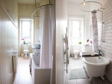 Długa I Wąska łazienka Po Metamorfozie Zdjęcie W Serwisie