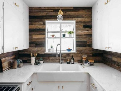 Tag Drewniane Deski Na ścianie W Kuchni