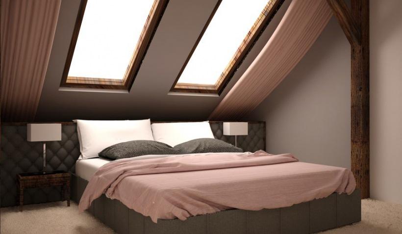 Aranżacja Sypialni Na Poddaszu Zdjęcie W Serwisie Lovingit