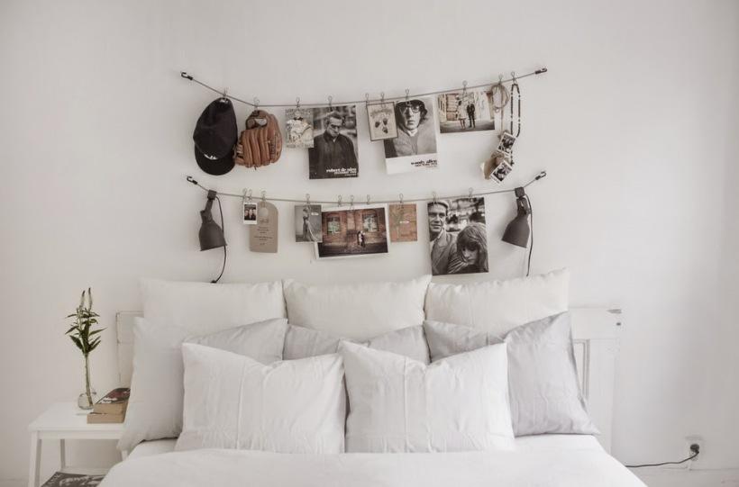 Dekoracja ścienna Nad łóżkiem W Sypialni Zdjęcie W
