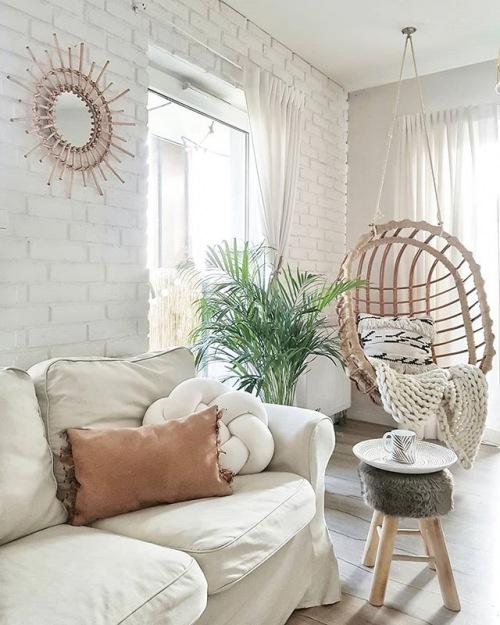 Wnętrza tygodnia z instagramu, czyli przytulna aranżacja mieszkania z pięknym balkonem!