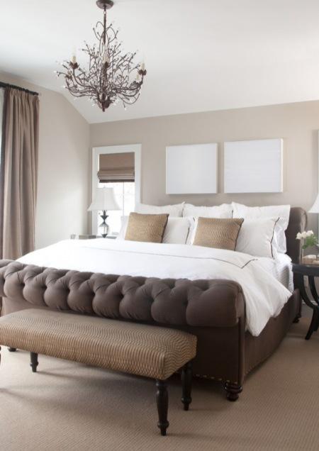 Sypialnia W Kolorze Czekoladowego Brązu I Beżu Zdjęcie W