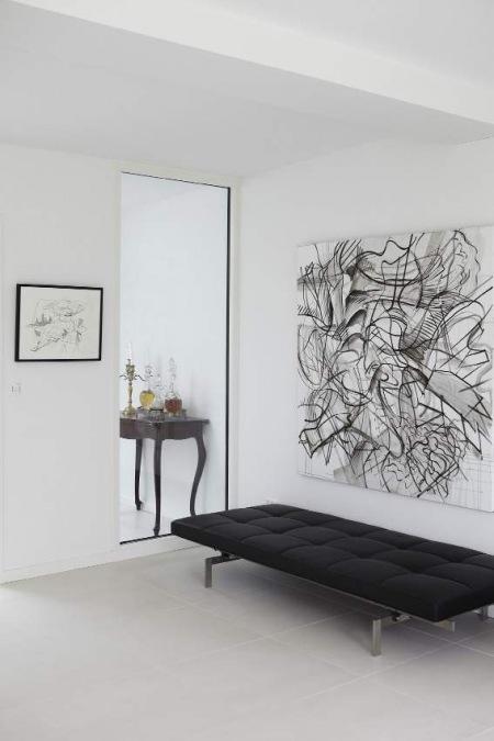 Abstrakcyjne Obrazy W Salonieczarno Białe Zdjęcie W Serwisie