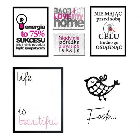 Typografiepostery Z Napisamiplakaty Z Hasłamipisane